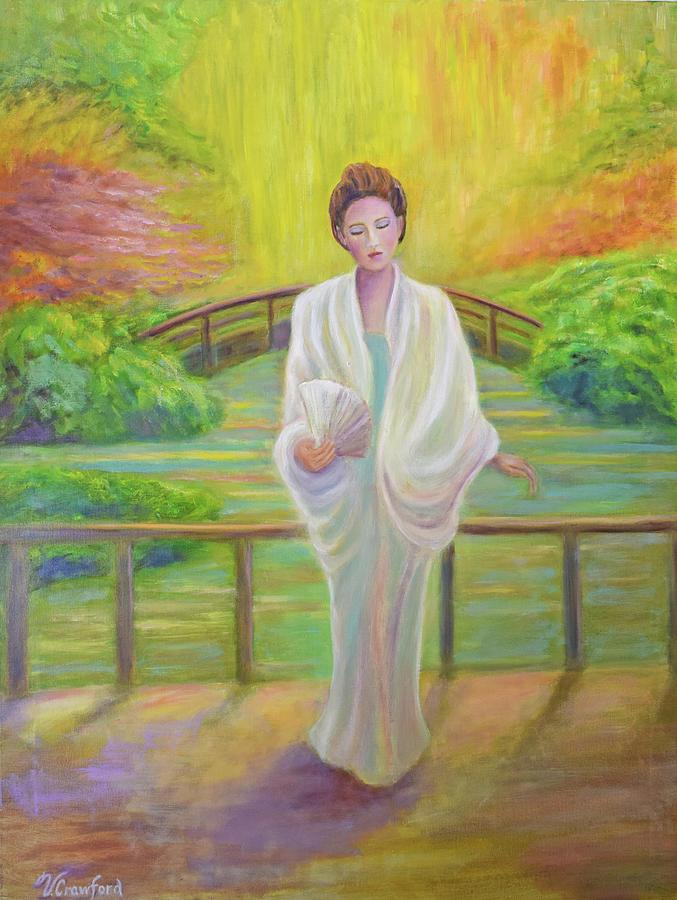 Impressionist Painting - Garden Meditation by Verlaine Crawford