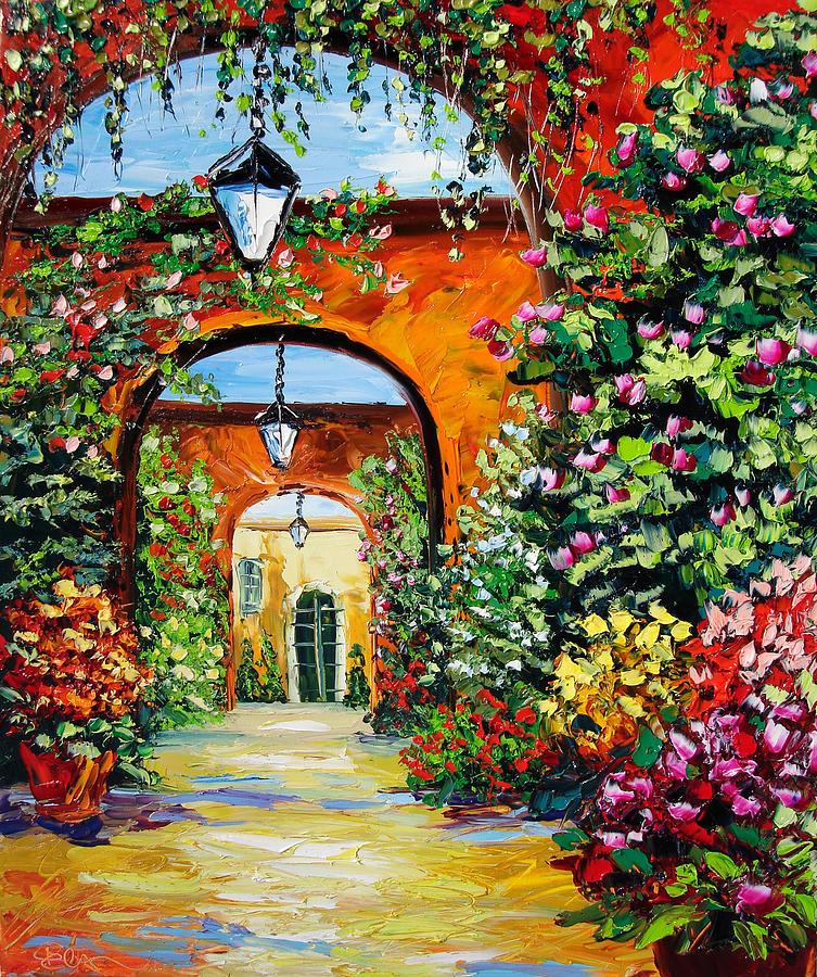 Sasik Painting - Garden Of Arches by Beata Sasik
