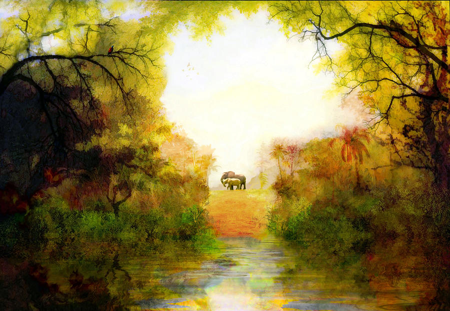 Garden Of Eden Painting By Valerie Anne Kelly