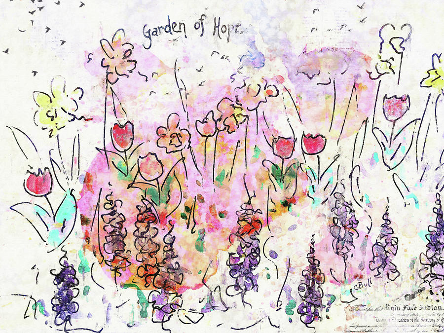 Flowers Painting - Garden Of Hope  by Claire Bull