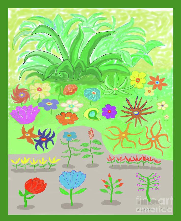 Happy Garden Digital Art - Garden Of Memories by Fred Jinkins
