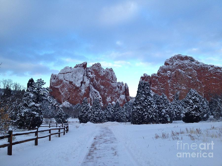 Garden Of The Gods After The Snow