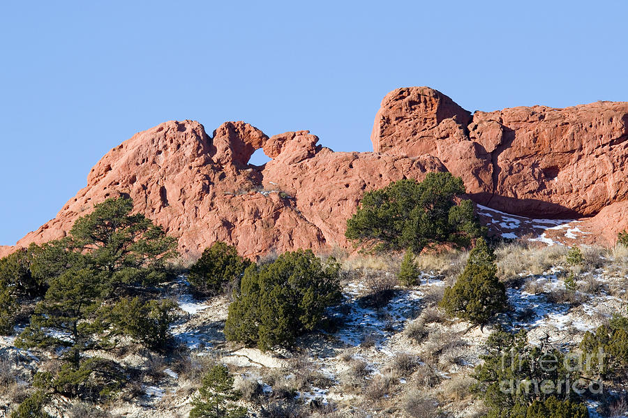 Garden Of The Gods And Kissing Camels Photograph