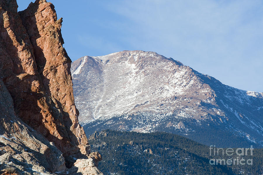 Garden Of The Gods And Pikes Peak View Photograph