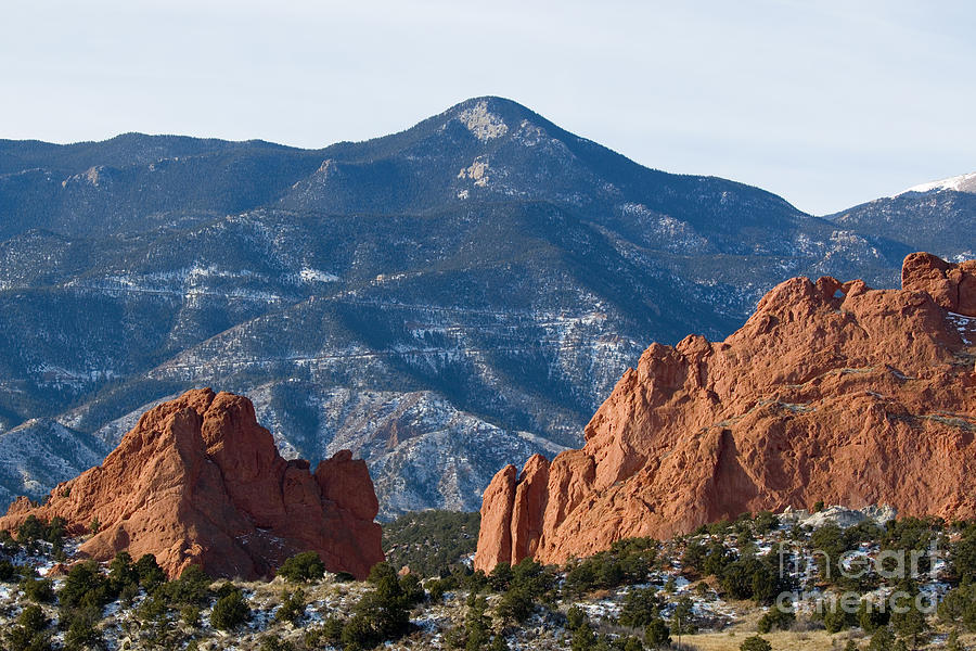 Garden Of The Gods And Red Mountain Photograph