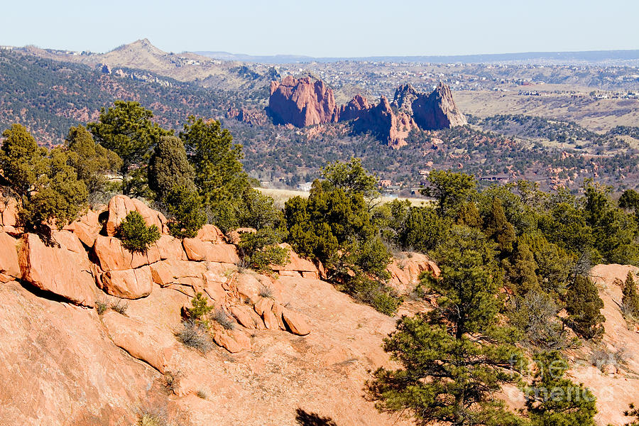 Garden Of The Gods And Springs West Side Photograph