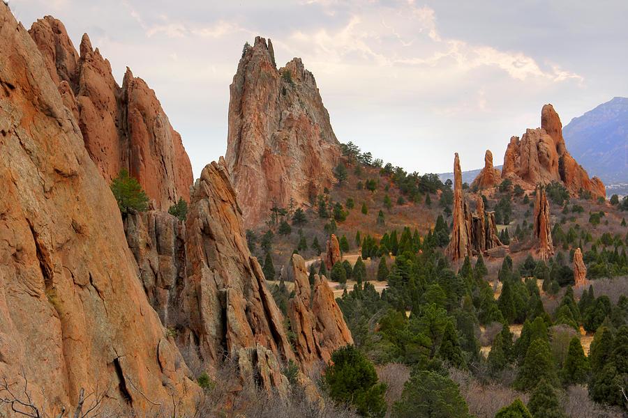 Balanced Rock Photograph - Garden of the Gods - Colorado  by Mike McGlothlen