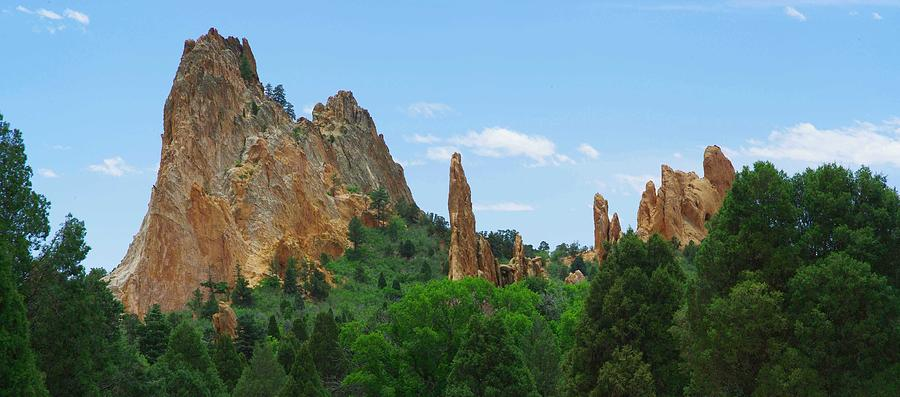 Landscape Panorama Photograph - Garden Of The Gods  by David Downey