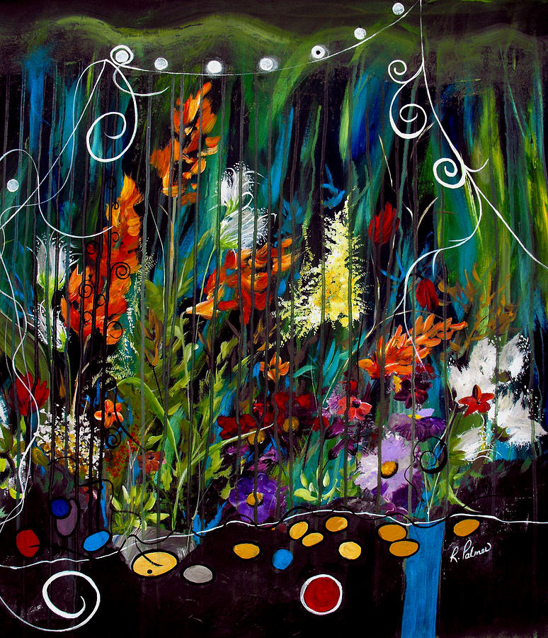 Abstract Painting - Garden Of Wishes by Ruth Palmer