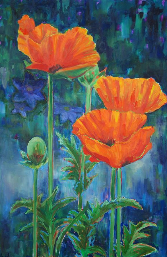 Poppy Painting - Garden Party by Billie Colson