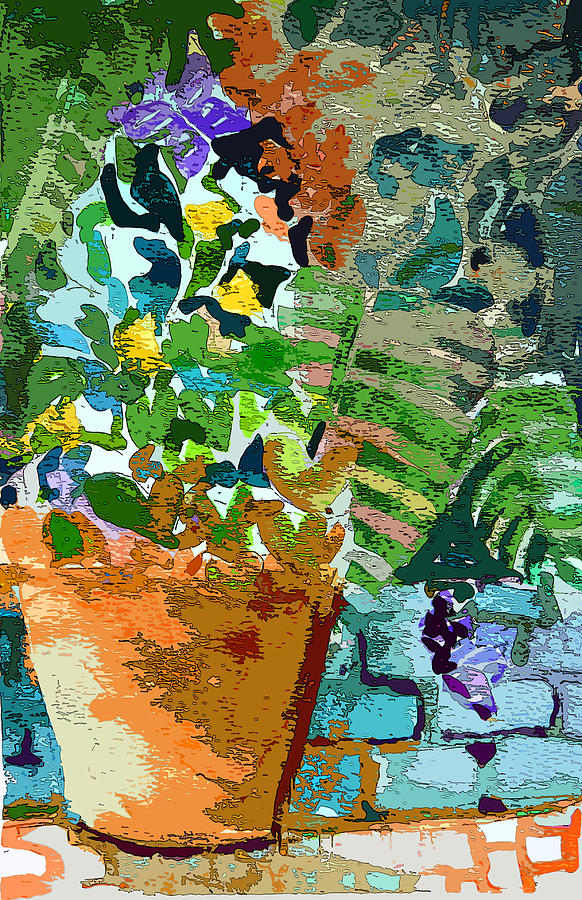 Flower Painting - Garden Party by Mindy Newman