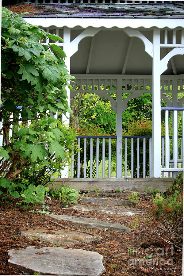Landscape Photograph - Garden Path And Gazebo by Todd Blanchard