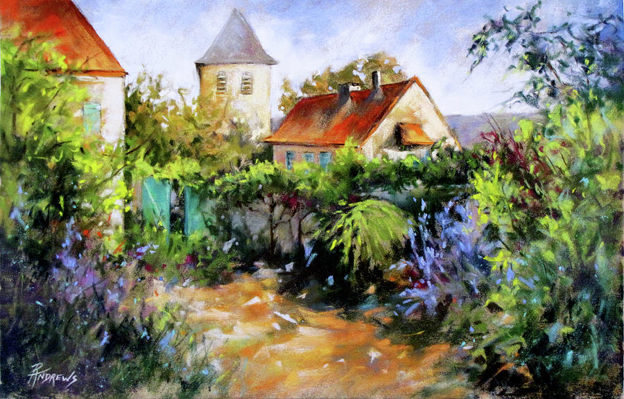 Colorful Painting - Garden Pleasures by Rae Andrews