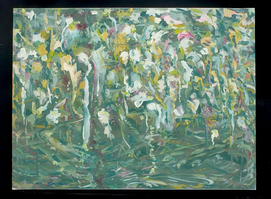 Abstract Expressionism Painting - Garden by Robert Gaudreau