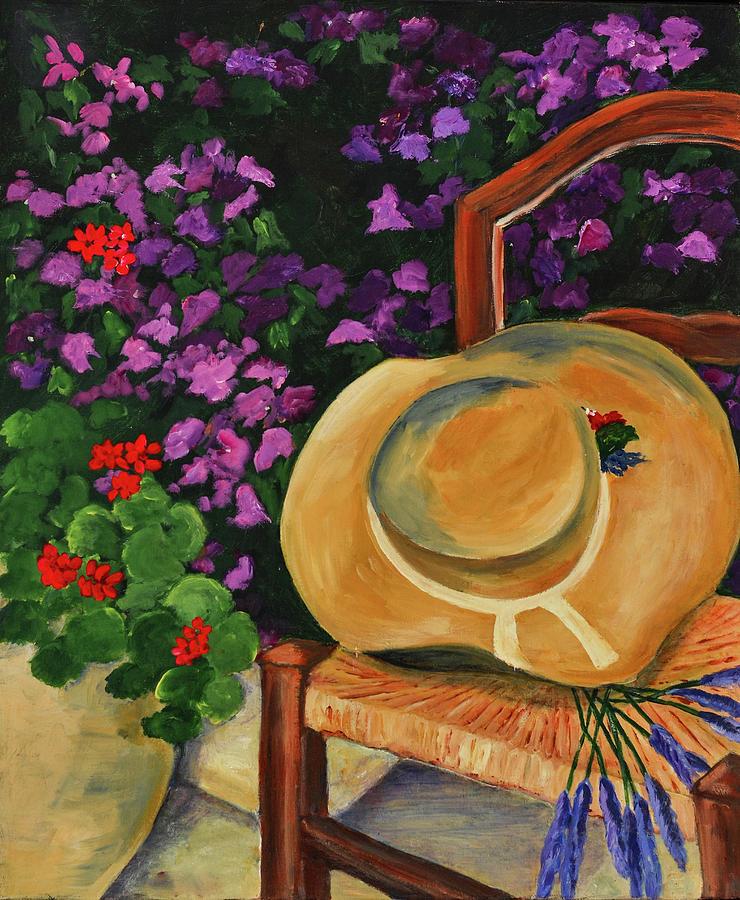 Garden Painting - Garden Scene by Elise Palmigiani