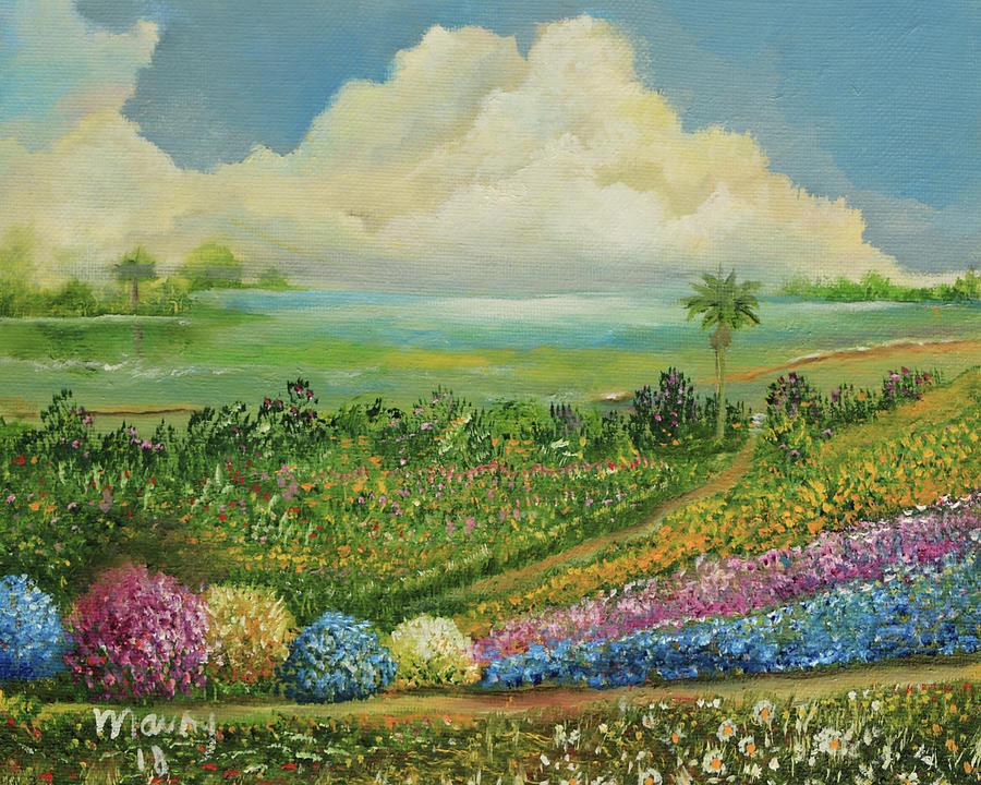 Garden Near Lagoon by Alicia Maury