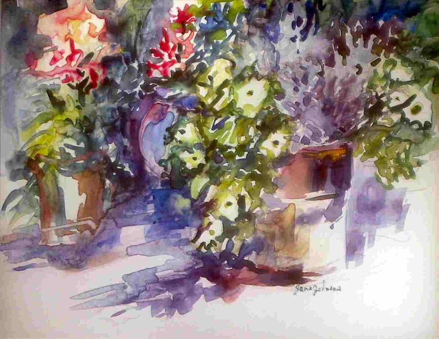 Flowers Painting - Garden Study 3 by Jane Johnson