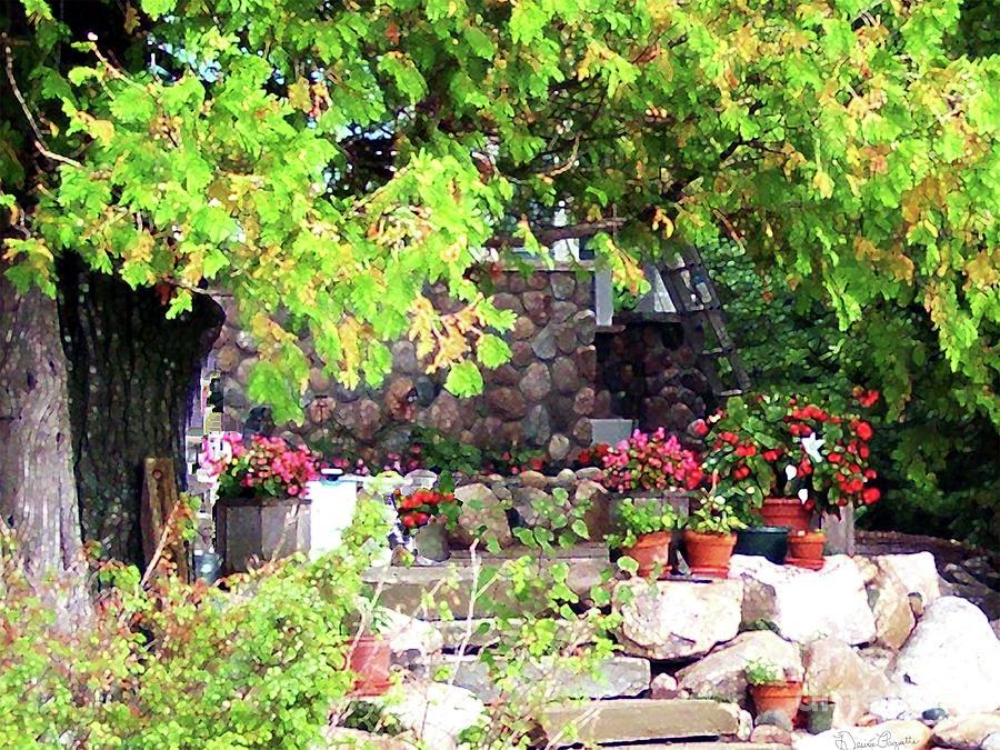 Garden Photograph - Garden Terrace by Desiree Paquette