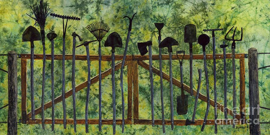 Garden Tools Painting