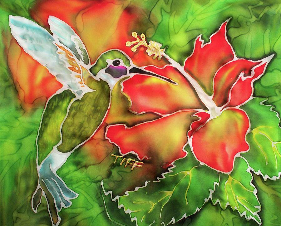 Hummingbird Painting - Garden Treasures by TIFF Barrett