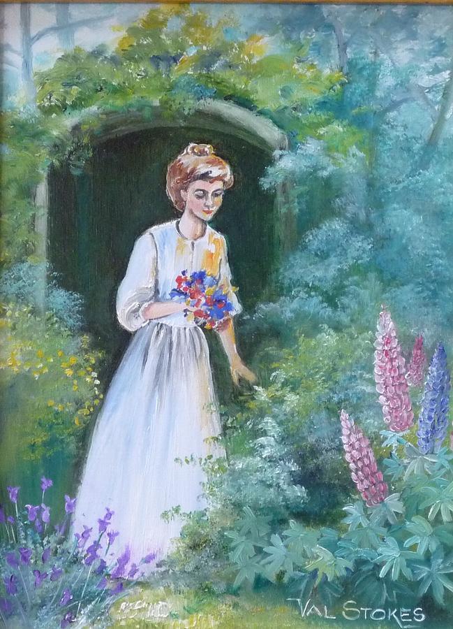Garden Painting - Garden Walk - B by Val Stokes