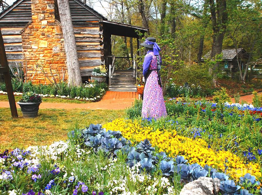 Rural Life Painting - Garden Walk by Donna Dixon