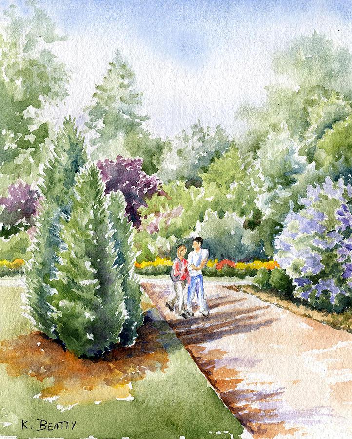 Garden Painting - Garden Walk by Karla Beatty