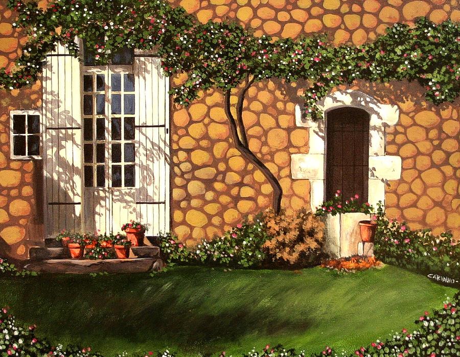 Garden Painting - Garden Wall by Daniel Carvalho