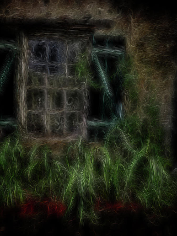 Abstract Digital Art - Garden Window 2 by William Horden