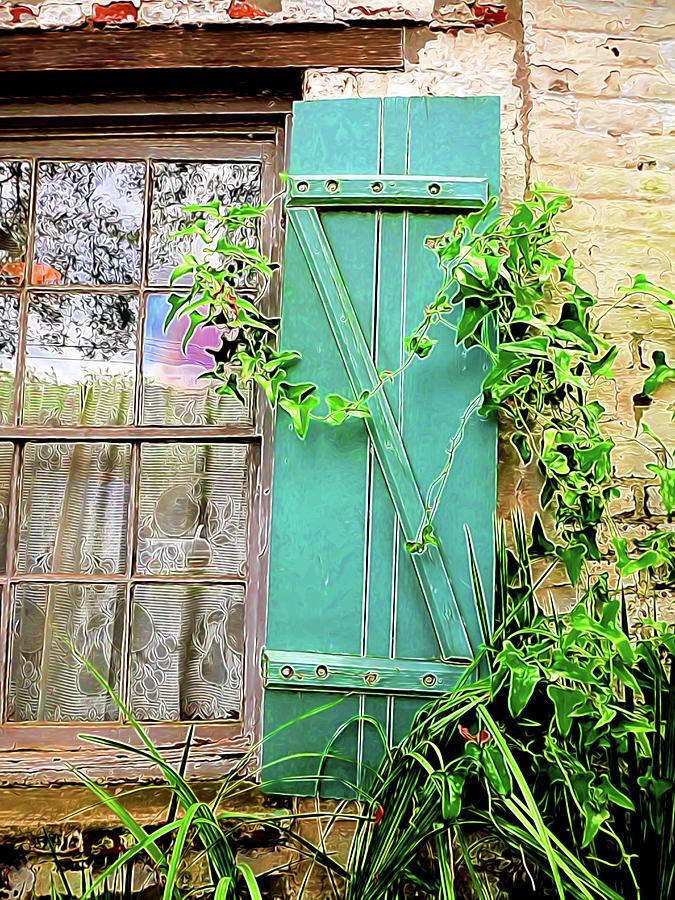 Bright Digital Art - Garden Window by William Horden