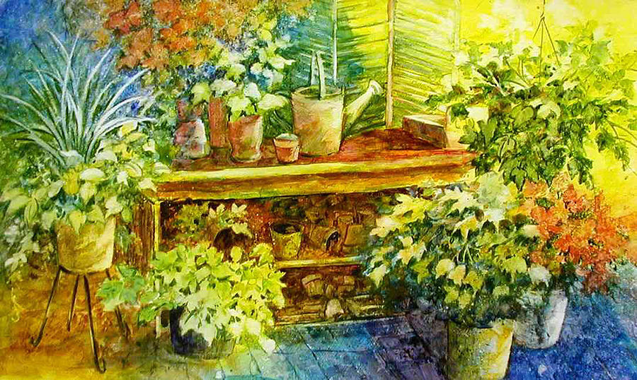 Gardeners Joy Painting by Lois Mountz