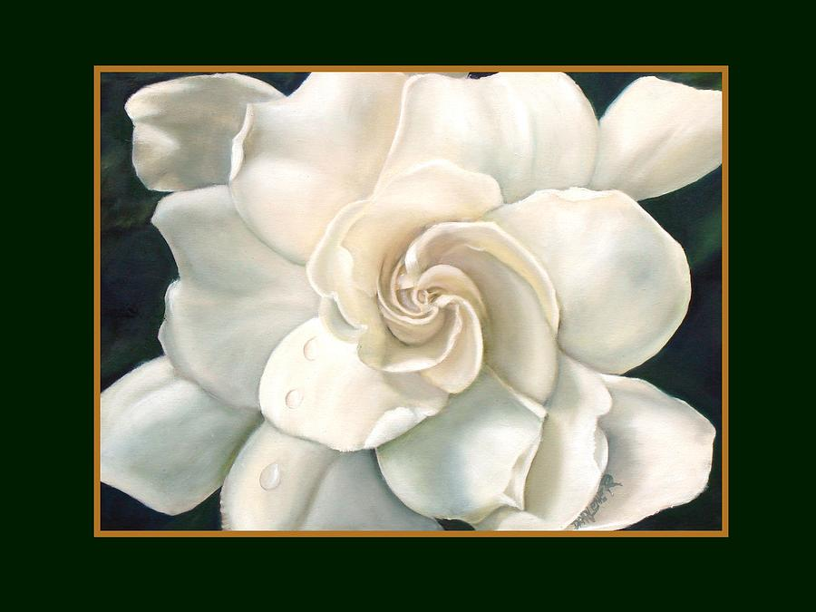 White Painting - Gardenia by Darlene Green