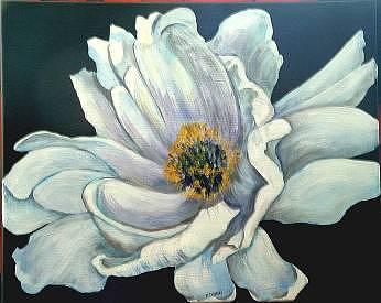 Gardenia Painting - Gardenia On Canvas by Diane Ziemski