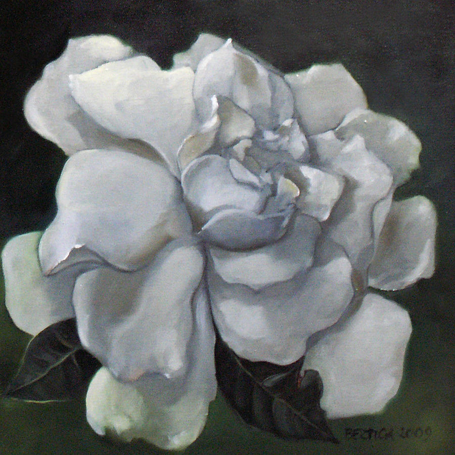 Flower Painting - Gardenia Two by Bertica Garcia-Dubus