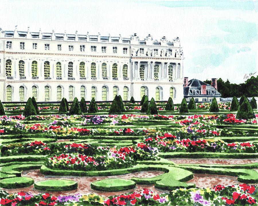 Gardens Of Versailles Palace Chateau Springtime Paris France Marie  Antoinette