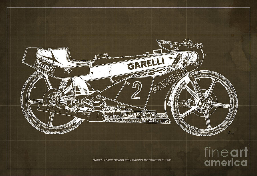 Garelli 50cc grand prix racing motorcycle 1983 blueprint drawing by motocicleta drawing garelli 50cc grand prix racing motorcycle 1983 blueprint by pablo franchi malvernweather Image collections