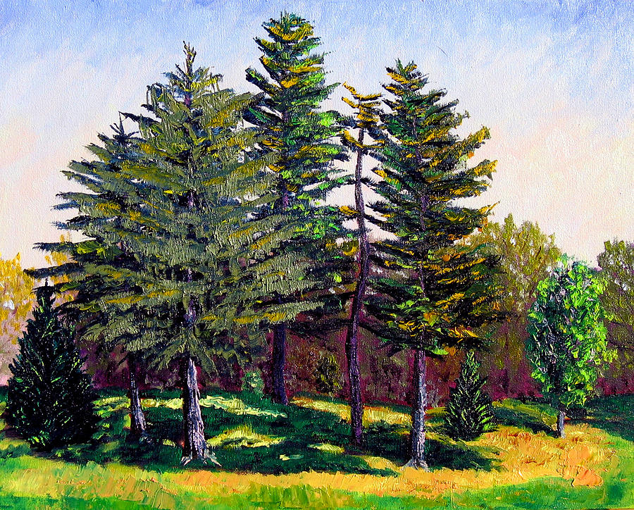 Landscape Painting - Garfield Trees by Stan Hamilton
