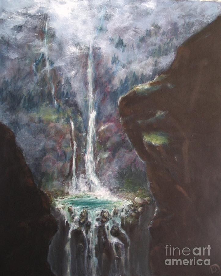 Gargoyle Falls Painting