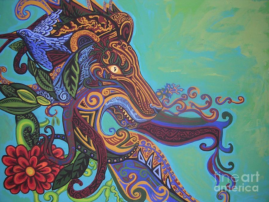 Gargoyle Painting - Gargoyle Lion by Genevieve Esson
