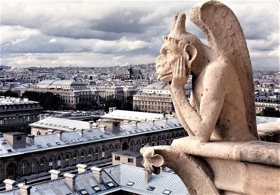Notre Dame Photograph - Gargoyle Of Notre Dame by Betsy Botsford