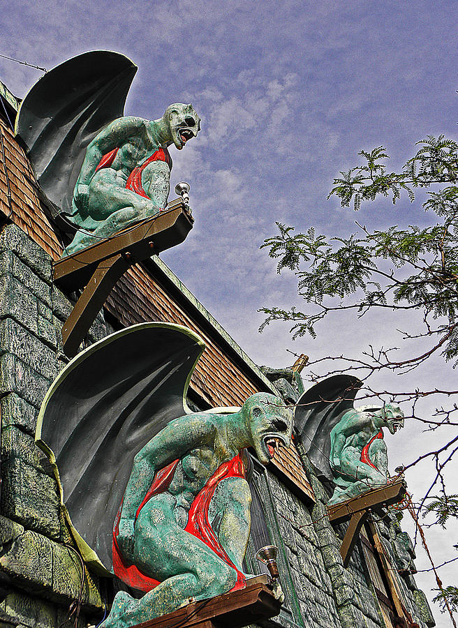 Digital Photograph - Gargoyles Galore by Elizabeth Hoskinson