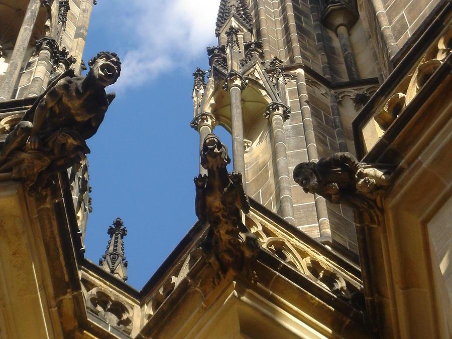 St. Vitus Cathedral Photograph - Gargoyles Of St. Vitus by John Julio