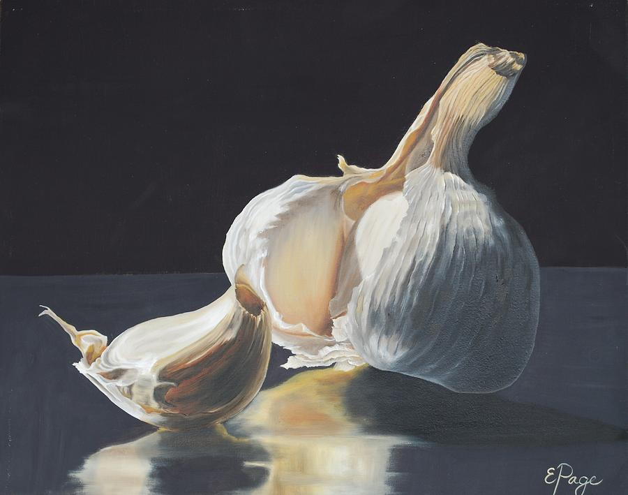 Realism Painting - Garlic II by Emily Page