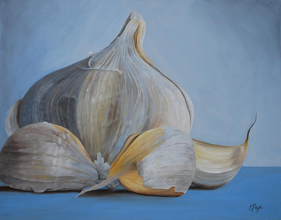 Realism Painting - Garlic IIi by Emily Page