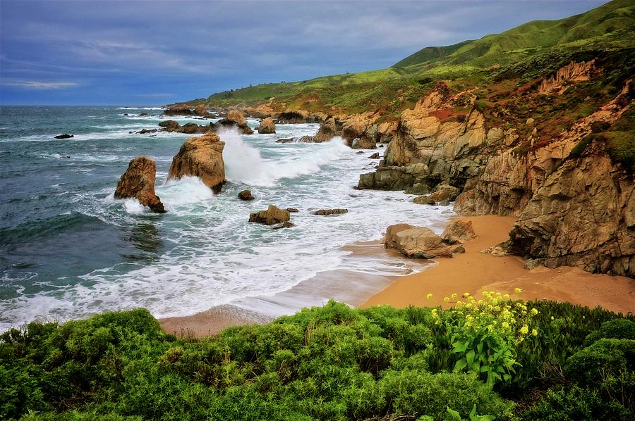 Nature Photograph - Garrapata Beach, Carmel, California by Zayne Diamond Photographic