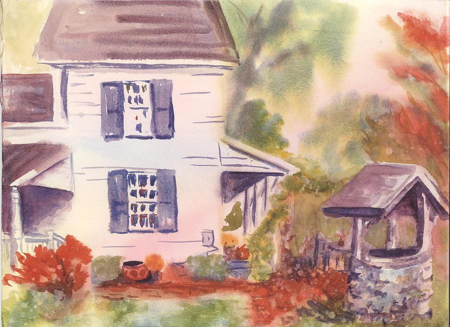 Landscape Painting - Garrett D Ackerman Tenant Farmhouse Of Ridgewood Nj by Alice Kaplan