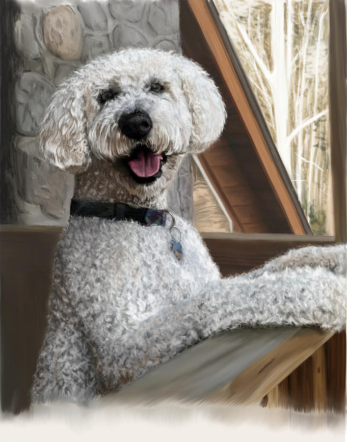 Goldendoodle Painting - Garrison by Myke  Irving