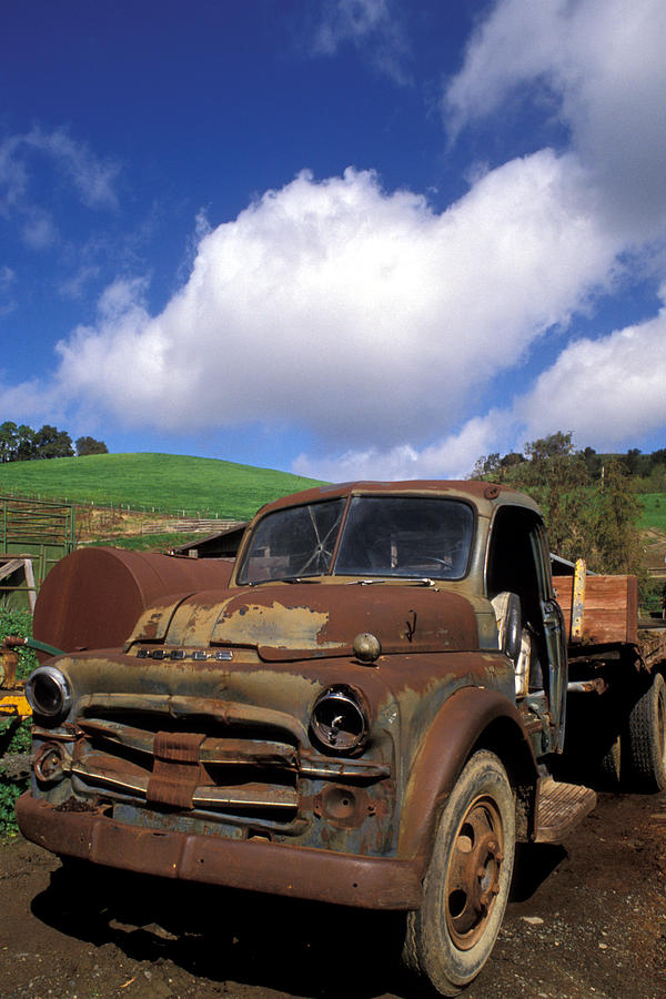 Old Trucks Photograph - Garrods Old Truck by Kathy Yates