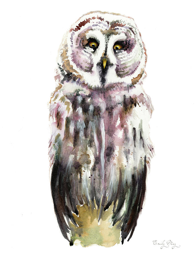 Gary The Great Gray Owl by Emily May Studio Arts