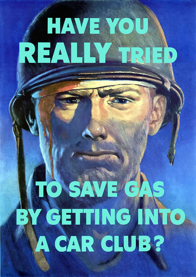 Gas Conservation Ww2 Poster Painting